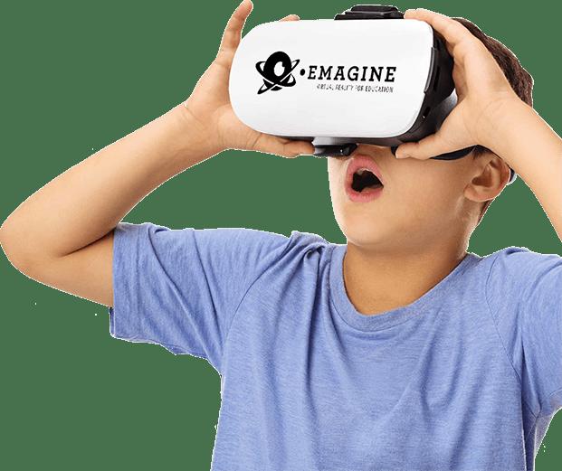 Leerling met Emagine VR bril